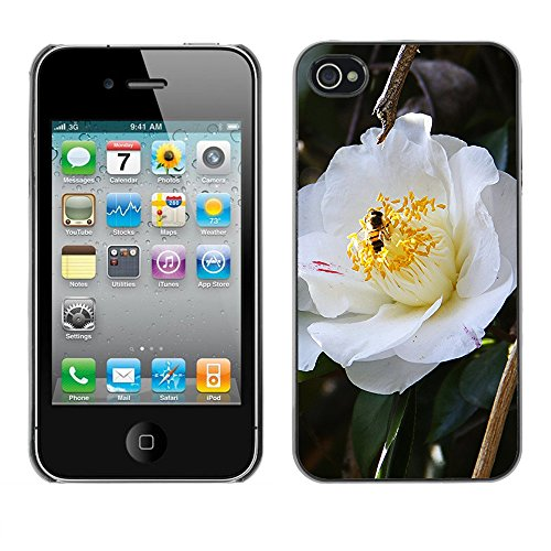 Premio Sottile Slim Cassa Custodia Case Cover Shell // F00009693 une fleur // Apple iPhone 4 4S 4G