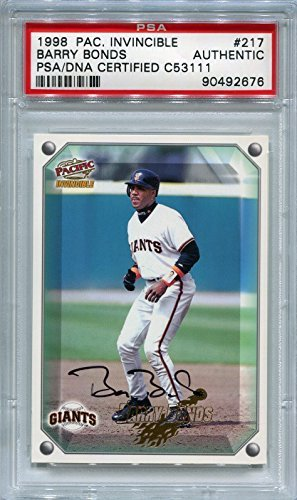 Barry Bonds San Francisco Giants PSA/DNA Certified Authentic Autograph - 1998 Pacific Invincible (Autographed Baseball Cards)