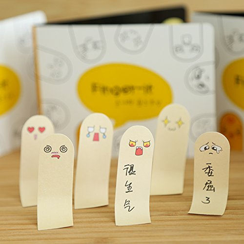 MONNY 6 pcs/Lot Figure it sticky notes Cute face memo stickers Book marker Stationery office accessories School supplies 6711