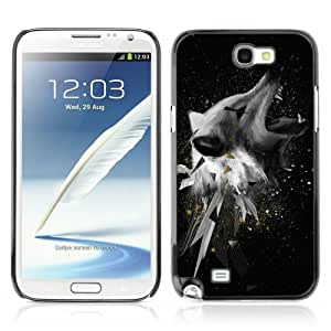 Designer Depo Hard Protection Case for Samsung Galaxy Note 2 N7100 / Cool Abstract Wolf