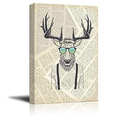 Creative Animal Figure on Vintage Paper Mr Elk...32