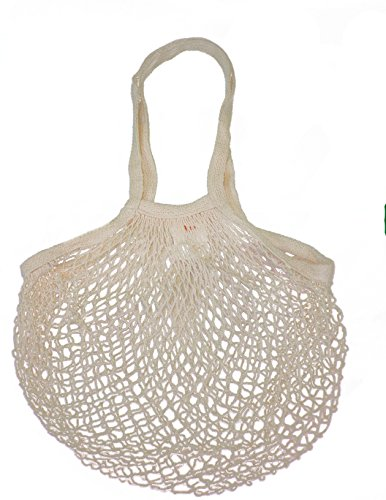 EuroSac Natural Cotton String Bag (1, Long Handle) -