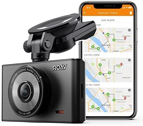 Roav by Anker Dash Cam C2 Pro with FHD 1080p, Sony Starvis Sensor, 4-Lane Wide-Angle Lens, GPS Logging, Built-in Wi-Fi, and Dedicated App, G-Sensor, WDR, Loop Recording, Night Mode