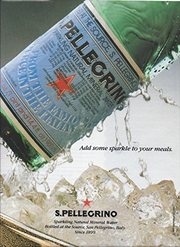 **PRINT AD** For San Pellegrino Water Add Some Sparkle To Your Meals **PRINT AD**