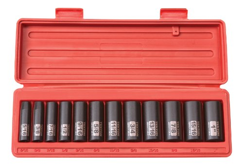 12 Drive Deep Socket - TEKTON 3/8-Inch Drive Deep Impact Socket Set, Inch, Cr-V, 12-Point, 5/16-Inch - 1-Inch, 12-Sockets | 47921