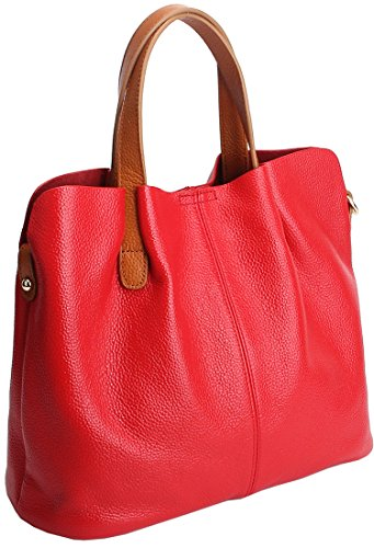 Kenoor Womens Leather Tote Handbags Fashion Shoulder Bag...