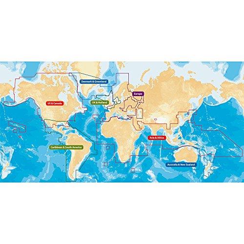 Navionics GPS Services CF/NAV+W Navionics GPS Services+ World Regions on CF Card