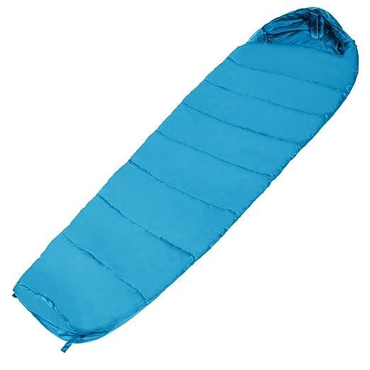Befied sacos de dormir grueso tipo momia con capucha para Pesca Camping y Viaje 226 x 83 cm (Azul): Amazon.es: Deportes y aire libre