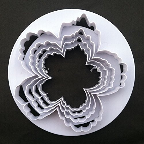 Bigger Peony Petals Cutter, 4pcs/set Gum Paste Flowers Cake Decorating Cutter Fondant Mold Sugar Tools (Peony Petals)