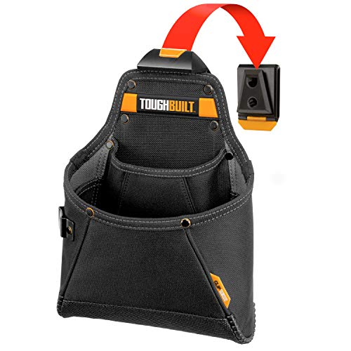 (ToughBuilt - Supply Tool Pouch - Multi-Pocket Organizer, Heavy Duty, Deluxe Premium Quality, Durable - 12 Pockets, Hammer Loop (Patented ClipTech Hub & Work Belts) (TB-CT-05))