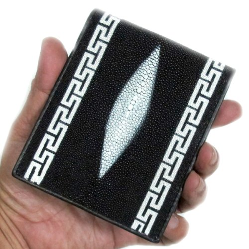 4 WALLET BEAUTIFUL INCHEN GENUINE X 8 5 LETHER 2 STINGRAY 5 INCHEN CLOSED 2 3 4 OPEN X qt7tUrw