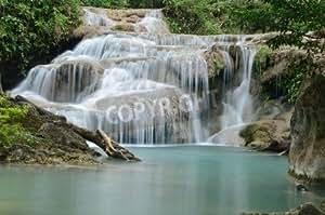 erawan Waterfall Level 2, Kanchanaburi Province, Tailandia (8506907), Póster, 140 x 90 cm