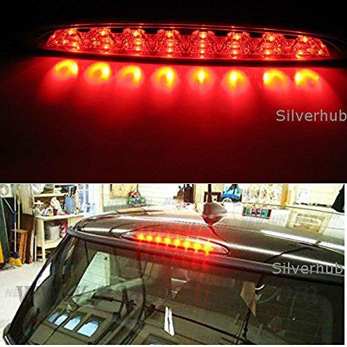 NEW REAR THIRD BRAKE SMOKED LED LIGHT HIGH LEVEL 3RD STOP BRAKE LAMP 63256935789 Silver Hub