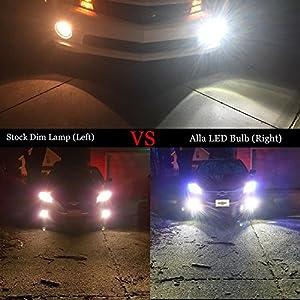 Alla Lighting Extreme Super Bright H10 9145 LED Bulb Fog Light High Power 80W Cree 12V LED 9145 Bulbs for 9140 9040 9045 H10 9145 Fog Light Lamp Replacement, 6000K Xenon White (Set of 2)