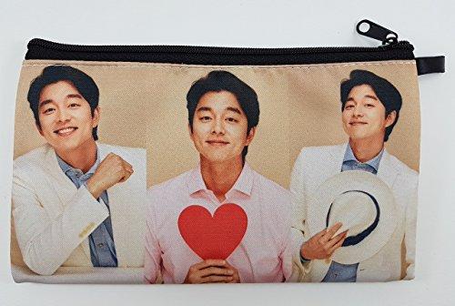 Gong Yoo Korean Actor BIG Zip Pen Pencil / Cosmetic Makeup Case Bag Pouch Stationery - York Prada New