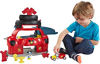 Fisher-Price Disney Mickey & the Roadster Racers, Roadster Racers Garage Playset from Fisher Price