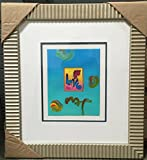 LOVE is a one-of-a-kind acrylic mixed media on paper by Peter MAX