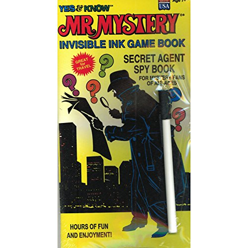 Lee Publications YES & Know Mr. Mystery Secret Agent Spy Invisble Ink Game Book