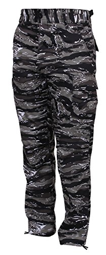 Rothco Color Camo Tactical BDU Pant, Urban Tiger Stripe Camo, L