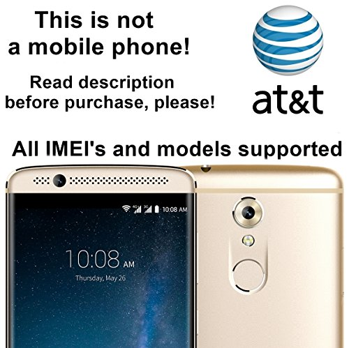 AT&T USA Unlocking Service for ZTE Blade V Max, Kis 3, Rio 3, Zmax Pro, Avid Plus, Obsidian, MAVEN and Other Models Which Ask For an Unlock Code - Make - Usa Sales Refund Tax