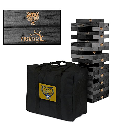 NCAA Fort Valley State University Wildcats 939823Onyx Stained Giant Wooden Tumble Tower Game, Multicolor, One Size by Victory Tailgate