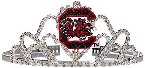 Divine Creations NCAA South Carolina Fighting Gamecocks Girls Princess Tiara, Silver, One Size