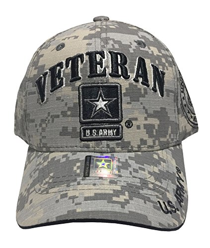 TL MILITARY CAPS US Armed Forces Embroidered Military Baseball Cap Hat (US Army Star Veteran Universal)