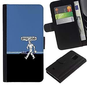All Phone Most Case / Oferta Especial Cáscara Funda de cuero Monedero Cubierta de proteccion Caso / Wallet Case for Samsung Galaxy S5 Mini, SM-G800 // Getting Loaded - Funny
