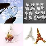 Whitelotous 19 PCs DIY Resin Mold - Animal Jewelry Crystal Resin Craft Making Mould Decoration Craft Tool