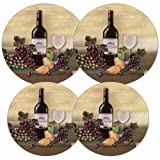 Grape Kitchen Decor Reston Lloyd Electric Stove Burner Covers, Set of 4, Wine and Vines All-Over Pattern