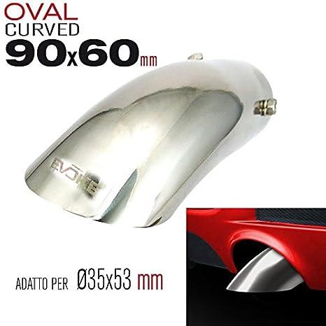 Evoke Terminale Curvo per scarichi Ø35 53mm  Amazon.it  Auto e Moto 1c6ca867d1