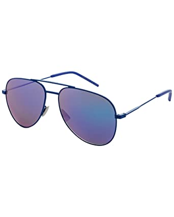 812289fe3a Amazon.com  Yves Saint Laurent CLASSIC 11 RAINBOW 005 55mm Blue ...