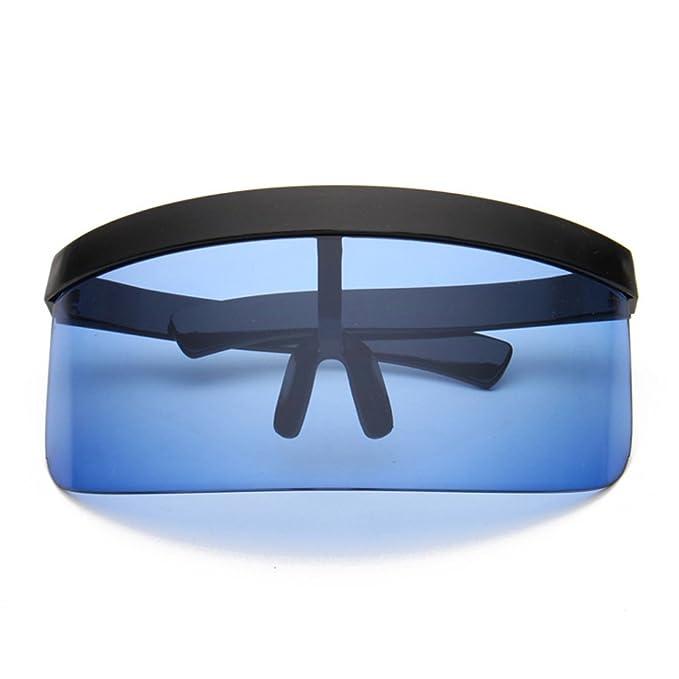 72f5d89795152 Futuristic Cyclops Monoblock Oversize Shield Visor Shield Mirrored  Sunglasses (Black