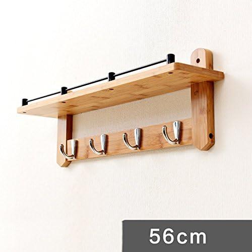 ZHIRONG 服のフック無垢の木の壁の棚はフックアップ ( 色 : シルバー しるば゜ , サイズ さいず : 4 hooks )