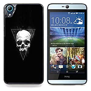 """Qstar Arte & diseño plástico duro Fundas Cover Cubre Hard Case Cover para HTC Desire 826 (Triángulo Geometría cráneo"""")"""