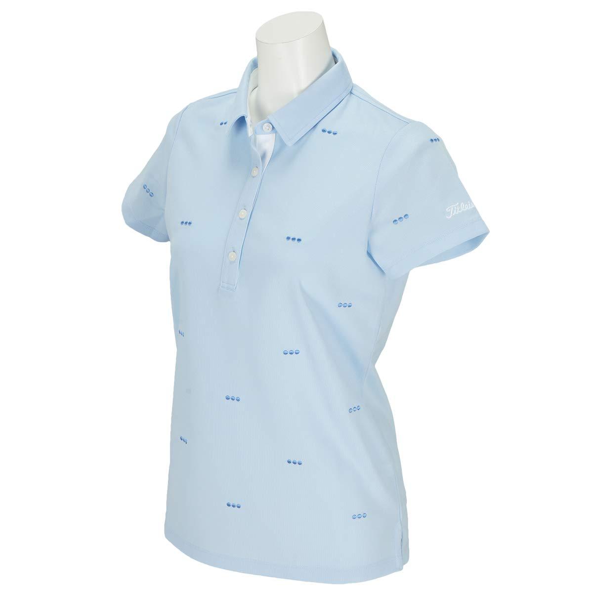 タイトリスト TITLEIST 半袖シャツポロシャツ ドット刺繍半袖ポロシャツ レディス サックス M   B07PJ15TK3
