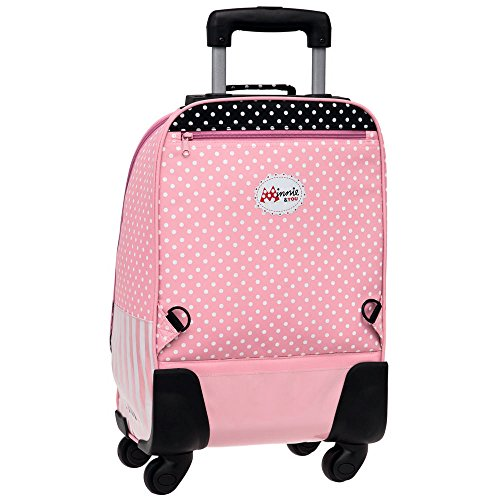 Disney Minnie Mouse Mochila Escolar con Carro, 4 Ruedas, Rosa: Amazon.es: Equipaje
