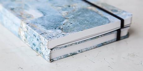Rock Design - Paquete de dos Cuadernos Mármol Azul Pasta Suave