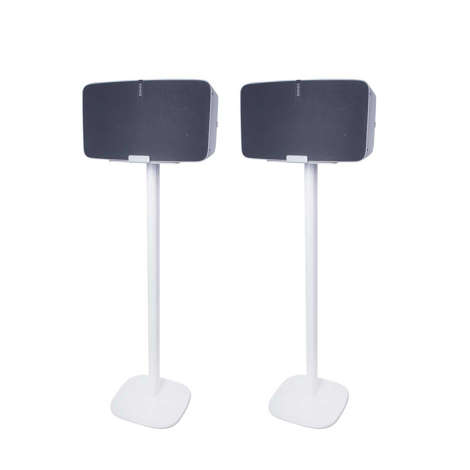 Vebos floor stand Sonos Play 5 gen 2 white set en optimal experience in every room - Allows you to place your SONOS PLAY 5 exactly where you want it - Two years warranty by Vebos