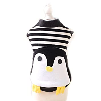 Cute Halloween Dog Cat Penguin Costume Outfits Clothes Winter Warm Fleece Small Dog Pet Coat Jacket  sc 1 st  Amazon.com & Amazon.com : Cute Halloween Dog Cat Penguin Costume Outfits Clothes ...
