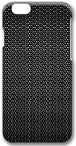 Black Hex Pattern Apple iPhone 6 Case, 3D iPhone 6 Cases Hard Shell Cover Skin Cases