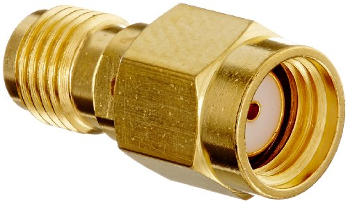 Pomona 72967 Brass SMA Jack (Female) to Reverse Polarity SMA Jack (Female) Adapter, 50 Ohms, 0.71