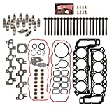 Evergreen HSHBLF8-30400 Lifter Replacement Kit fits 99-03 Dodge Dakora Durango RAM Jeep 4.7 SOHC Head Gasket Set, Head Bolts, Lifters
