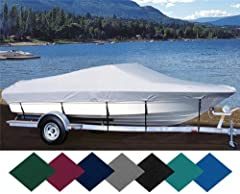 SEMI-CUSTOM FIT BOAT COVER- Made-to-Order in USA. This cover is made to accommodate the body style of the boat model and year specified in the item title. These Covers are made to order to fit standard manufacturer models with no optional, af...