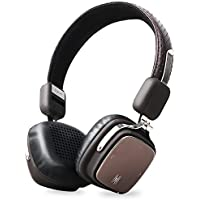 Bluetooth Headphones, OneOdio On Ear Foldable Wireless Stereo Headset, Lightweight Circumaural Headphones CVC 6.0, BT 4.1 [17+ Hrs. of Playback Time] - (Black Brown)