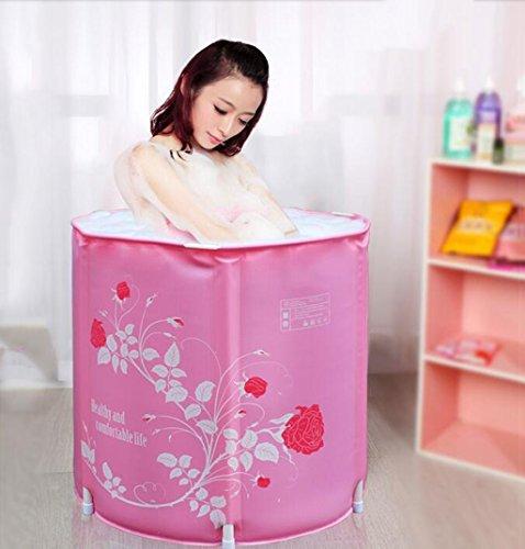 Cqq Bathtub Folding Bath Tub Adult Bath Thickening Plastic Bath Tub (Size : B) by Bathtub