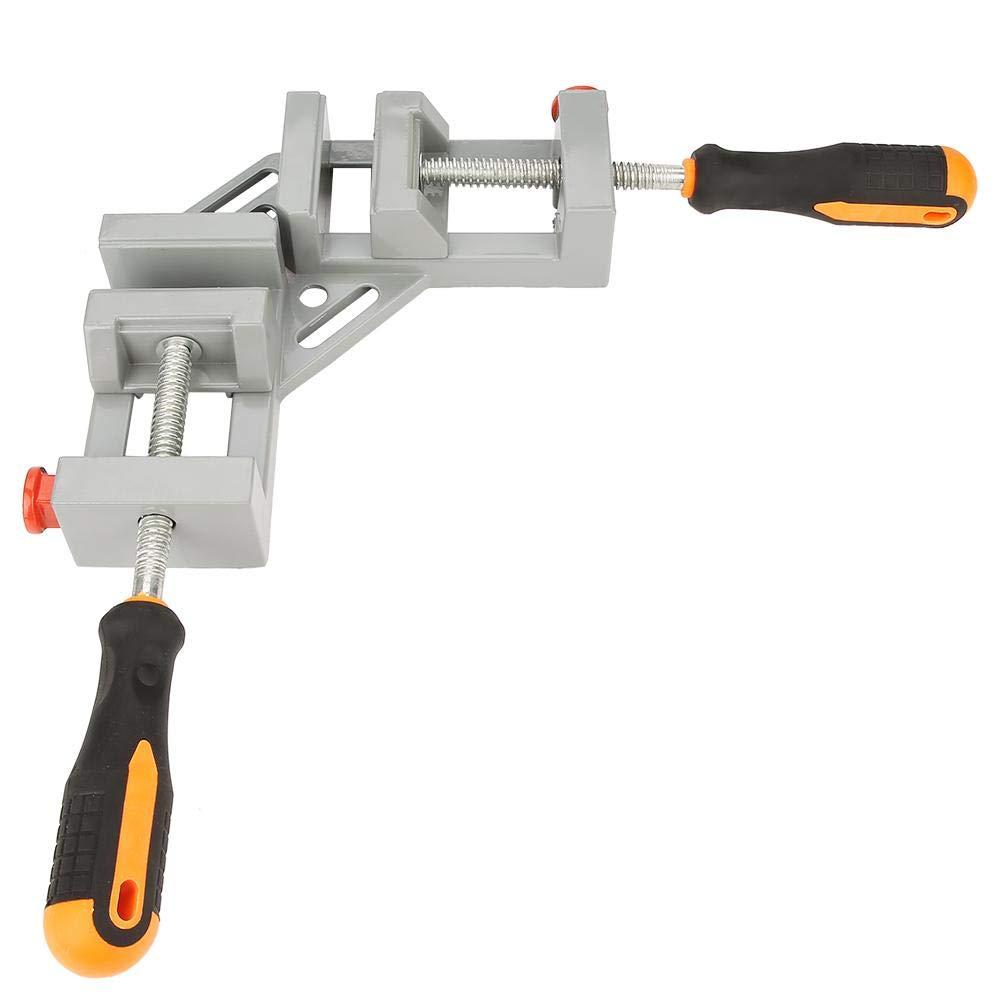 Ladieshow 4Pcs 90 /° rechtwinkliger Rahmen Eckklemme Clip Fixierer Linealklemme Holzbearbeitungs-Handwerkzeug