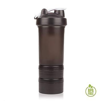 Shaker Gym Bottle | Coctelera para batidos de proteínas con doble compartimento | Sport Protein Mixer