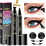 iMethod Wing Eyeliner Stamp - 2 Pens Left & Right Dual Ended Liquid Winged Eye Liner Pen, Perfect Winged Cat Eye Look, Waterproof, Smudgeproof and Sweatproof, Vamp Style Wing, No Dipping Required