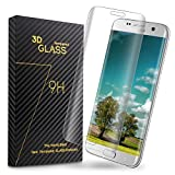Galaxy S7 Edge Screen Protector, Emelon Full Coverage tempered glass screen Cover for Samsung Galaxy S7 Edge -Lucid